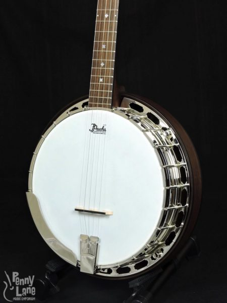 PRUCHA PIONEER 5 STRING RESONATOR BANJO WITH RADIUS FINGERBOARD & CASE