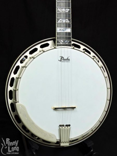 PRUCHA SPIRIT SD STEVE DILLING SIGNATURE 5 STRING RESONATOR BANJO WITH CASE