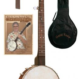 GOLD TONE CC-OTP CRIPPLE CREEK 5 STRING OPEN BACK CLAWHAMMER BANJO PACKAGE