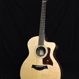 USED TAYLOR 214CE PLUS GLOSS ACOUSTIC ELECTRIC GRAND AUDITORIUM GUITAR WITH CASE