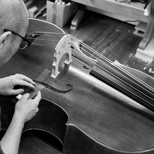 upright bass repair at Penny Lane Music Emporium