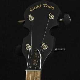 Gold Tone AC-1 Front Headstock Close