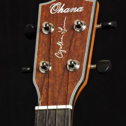 Ohana CK-14CL Front Headstock Close