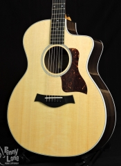 TAYLOR 214CE DLX ACOUSTIC ELECTRIC GRAND AUDITORIUM GUITAR WITH CASE – USED