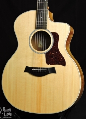 TAYLOR 214CE-K DLX KOA ACOUSTIC ELECTRIC GRAND AUDITORIUM GUITAR WITH CASE – USED