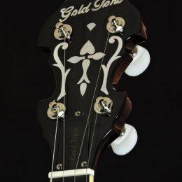 Gold Tone OB-3 Front Headstock Close