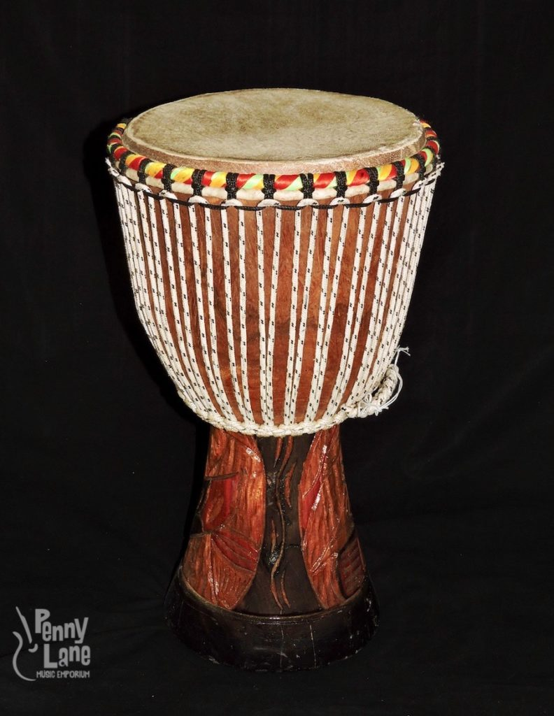 small djembe drum with 10 head handmade penny lane emporium. Black Bedroom Furniture Sets. Home Design Ideas