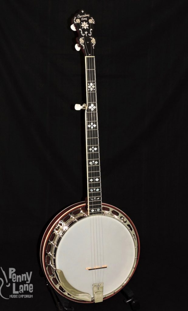 RECORDING KING RK-ELITE-85 ELITE SERIES 5 STRING RESONATOR BANJO WITH CASE
